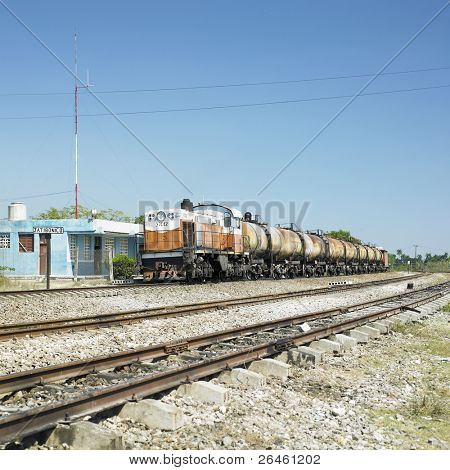 goods train, Jatibonico, Sancti Spiritus Province, Cuba