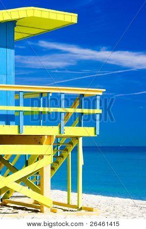 Cabaña en la playa, Miami Beach, Florida, USA