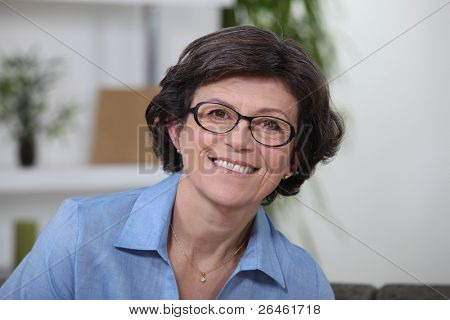 Portrait of a middle-aged smiling woman