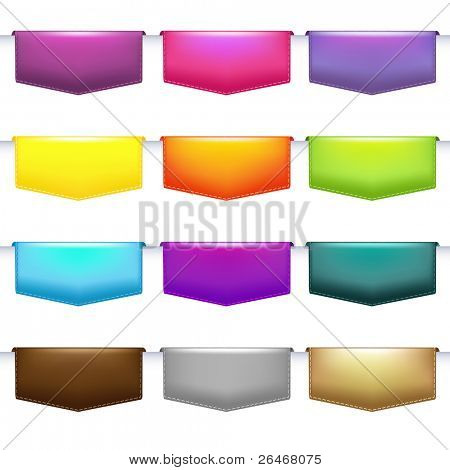 Labels Set, Isolated On White Background