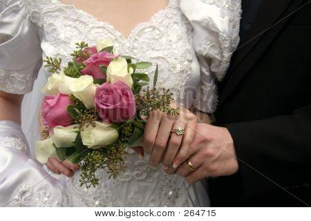 Bride & Groom Closeup.