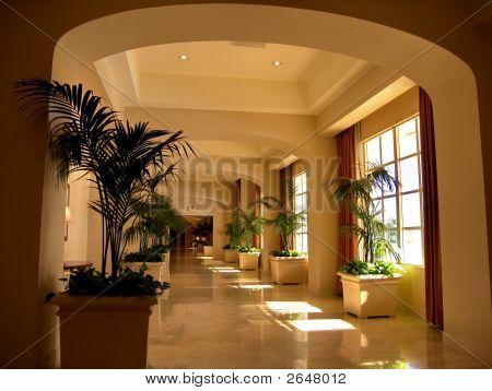 Luxury Hotel Entrance Corridor