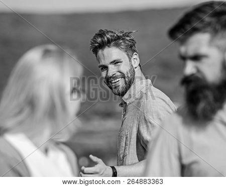Man With Beard Jealous Aggressive