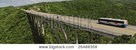 Panoramic view of bridge over Yumuri valley between Havana and Matanzas, cuba