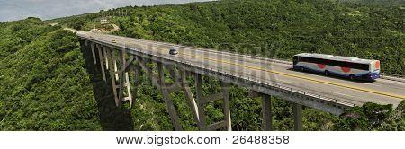Panoramic view of bridge over Yumuri valley between Havana and Matanzas, cuba