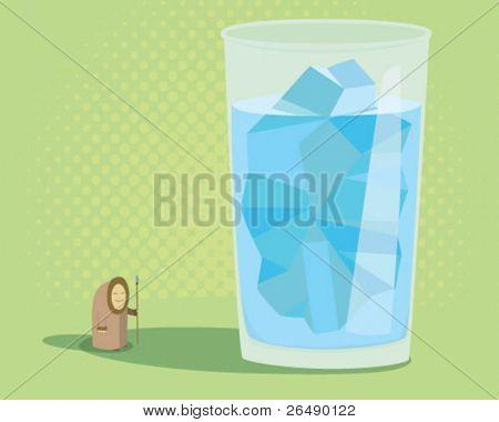 iceberg in a glass.