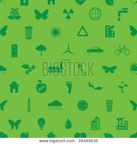 Vector illustration on the theme of ecology