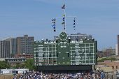 Chicago Cubs center field scoreboard at Wrigley Field