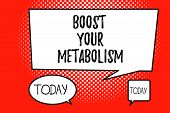 Word Writing Text Boost Your Metabolism. Business Concept For Increase The Efficiency In Burning Bod poster
