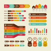 Infographic Template. Economic Charts Marketing Graphs Process Table, Timeline And Organization Flow poster