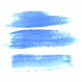 Vector Set Of Hand Drawn Brush Strokes In Horizontal Rectangular Shape For Backdrops. Colorful Artis poster
