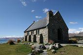 pic of mckenzie  - Lake Tekapo Old Church  - JPG