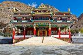 Buddhist monastery in Kaza. Spiti Valley, Himachal Pradesh, India