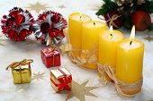 foto of x-max  - Christmas still life with candlelight and gingerbread - JPG