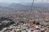 Mi Teleferico Is An Aerial Cable Car Urban Transit System In The City Of La Paz, Bolivia. poster