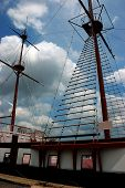 Old Tall Ship In The Tampa, Florida Area