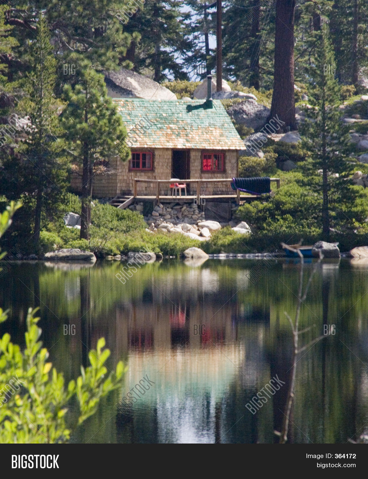 Log cabin in the woods by a lake - Cabin In The Woods Near Lake