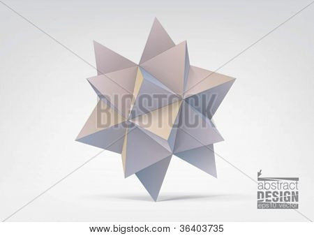Abstract geometric shape from pyramids, you can change colors
