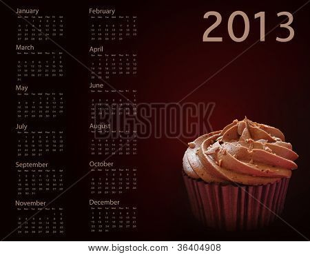 Chocolate lover's cupcake calendar for 2013.