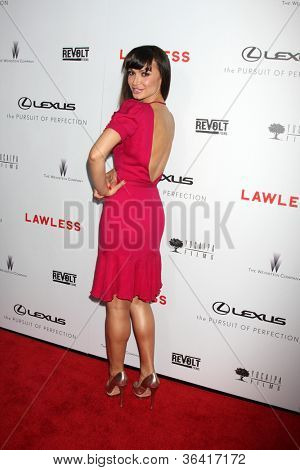 """LOS ANGELES - AUG 22:  Karina Smirnoff arrives at the """"Lawless"""" LA Premiere at ArcLight Theaters on August 22, 2012 in Los Angeles, CA"""