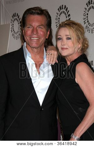 LOS ANGELES - AUG 23:  Peter Bergman, Melody Thomas Scott arrives at