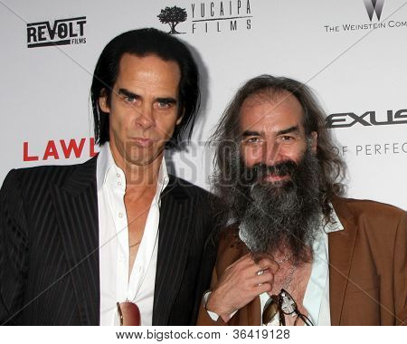 LOS ANGELES - AUG 22: Nick Cave; Warren Ellis kommt bei der