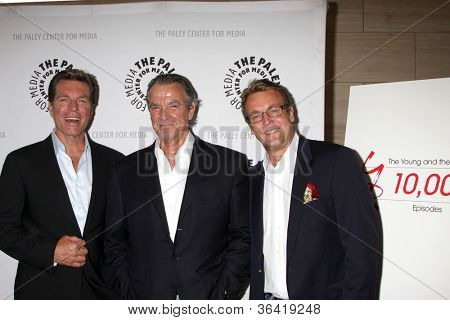LOS ANGELES - AUG 23:  Peter Bergman, Eric Braeden, Doug Davidson arrives at