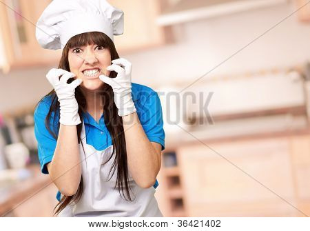 Clench Of Woman Cook, Indoor