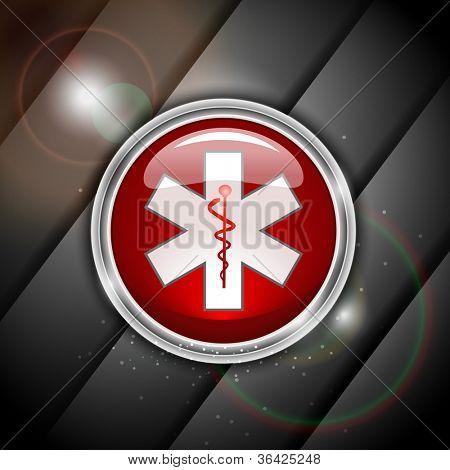 3D Medical sign, caduceus. EPS 10.