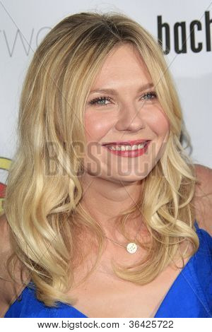 LOS ANGELES - AUG 23: Kirsten Dunst at the premiere of RADiUS-TWC's 'Bachelorette' at ArcLight Cinemas on August 23, 2012 in Los Angeles, California