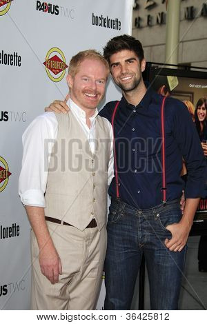 LOS ANGELES - AUG 23: Jesse Tyler Ferguson, Justin Mikita at the premiere of RADiUS-TWC's 'Bachelorette' at ArcLight Cinemas on August 23, 2012 in Los Angeles, California