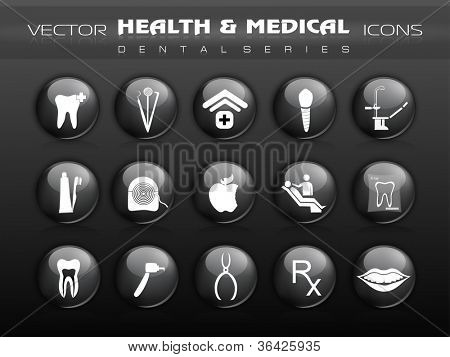 Dental care icons. EPS 10.