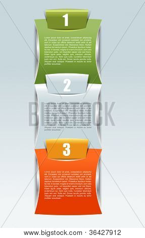 Abstract vector colored background with three positions
