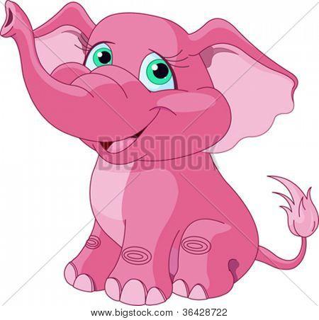 Very Cute pink elephant