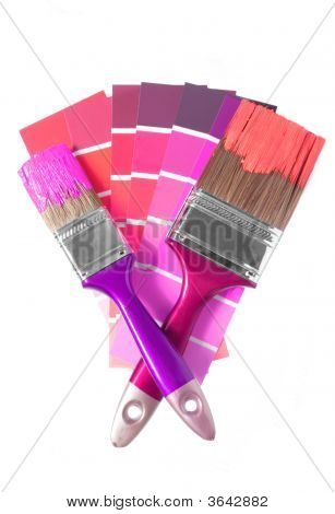 Two Brushes And Palette