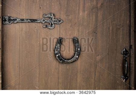 A Horseshoe On A Door