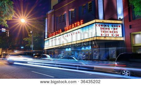 ATHENS, GEORGIA - AUGUST 23: Georgia Theatre August 23, 2012 in Athens, GA. Though the historic venue was mostly damaged by fire in 2009, it has been newly renovated with state-of-the-art facilities.