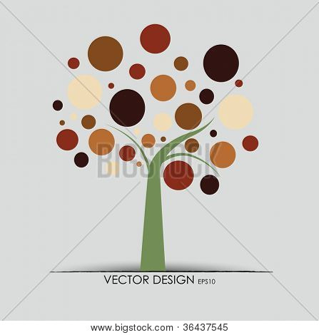 Abstract tree. Vector illustration.