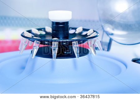 small plastic tube in centrifuge