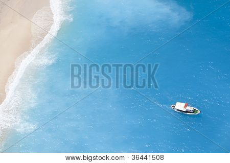 Boat On The Ionic Sea