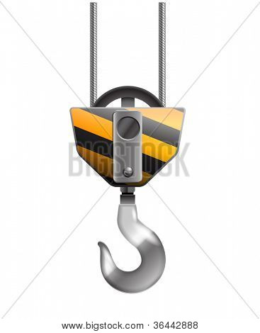 Illustration of the crane hook isolated on white