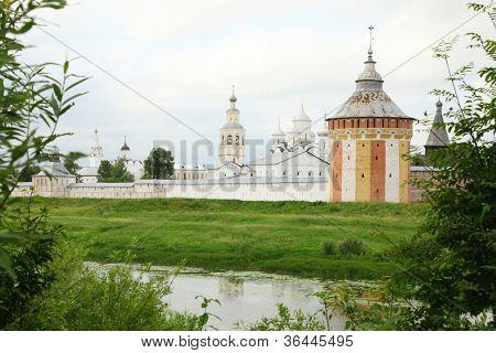 Saviour Prilutskyl Monastery near river in Vologda, Russia