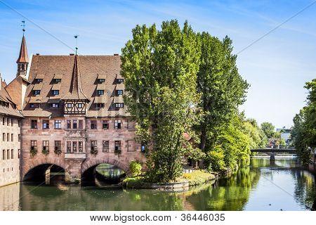 An image of the Heilig Geist Spital Nuremberg Bavaria Germany