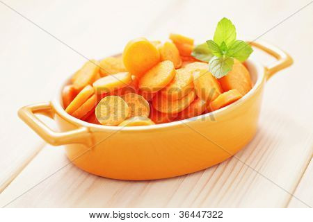 fresh carrot - fruits and vegetables /shallow DOFF/
