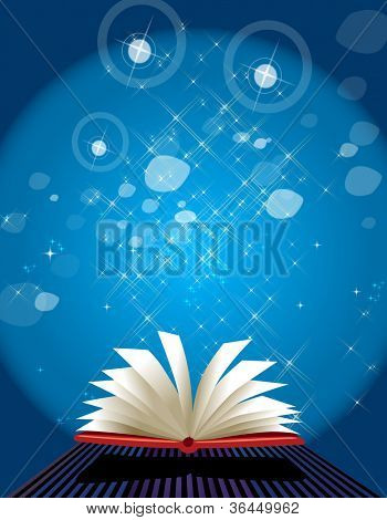 Open book with blank pages- a conceptual and metaphoric schooling, education, science, knowledge illustration, may be good for your projects as a background.