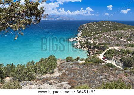 Coastline at Crete island in Greece