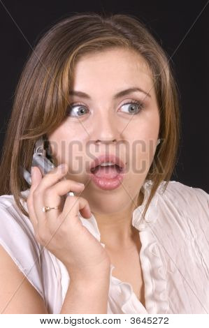 Pretty Hispanic Girl On A Cell Phone