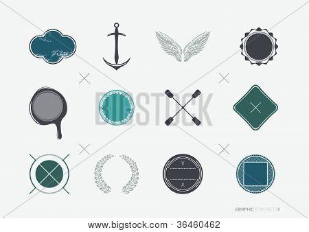 Vintage Labels and Symbols - vector illustration