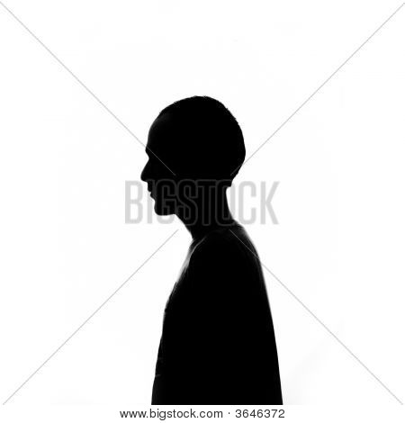 Silhouette Of A Young Man