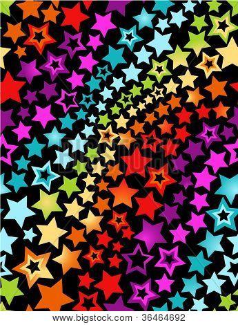 Rainbow stars seamless pattern